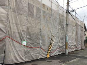 ハイツの大規模改修工事:足場組立