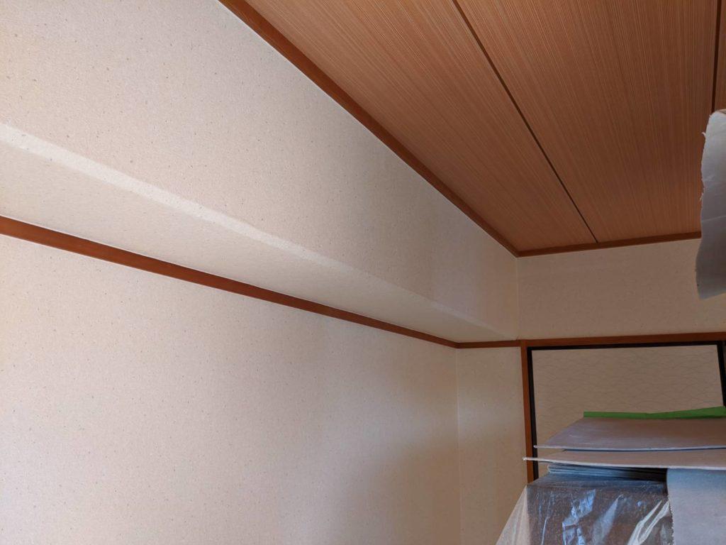 神戸市東灘区 御影マンション 和室天井貼替え