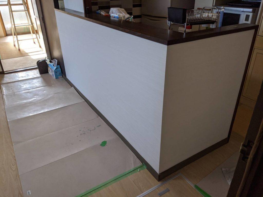 神戸市東灘区 御影マンション キッチン壁修繕