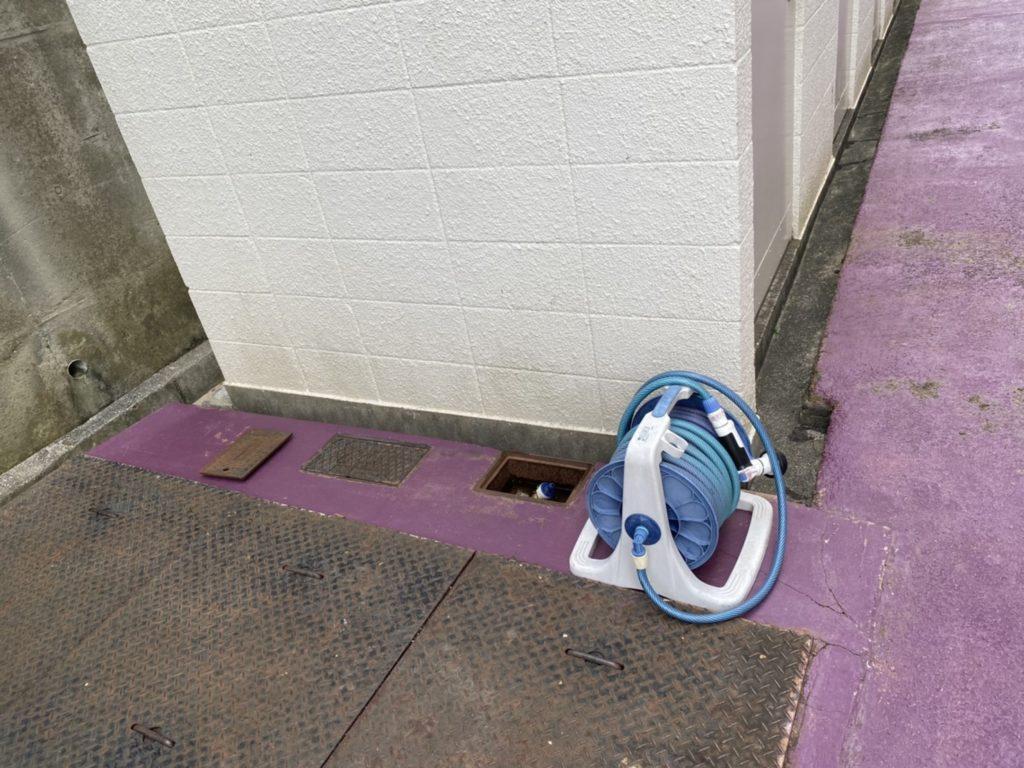 神戸市長田区 マンション共用部立水栓設置工事