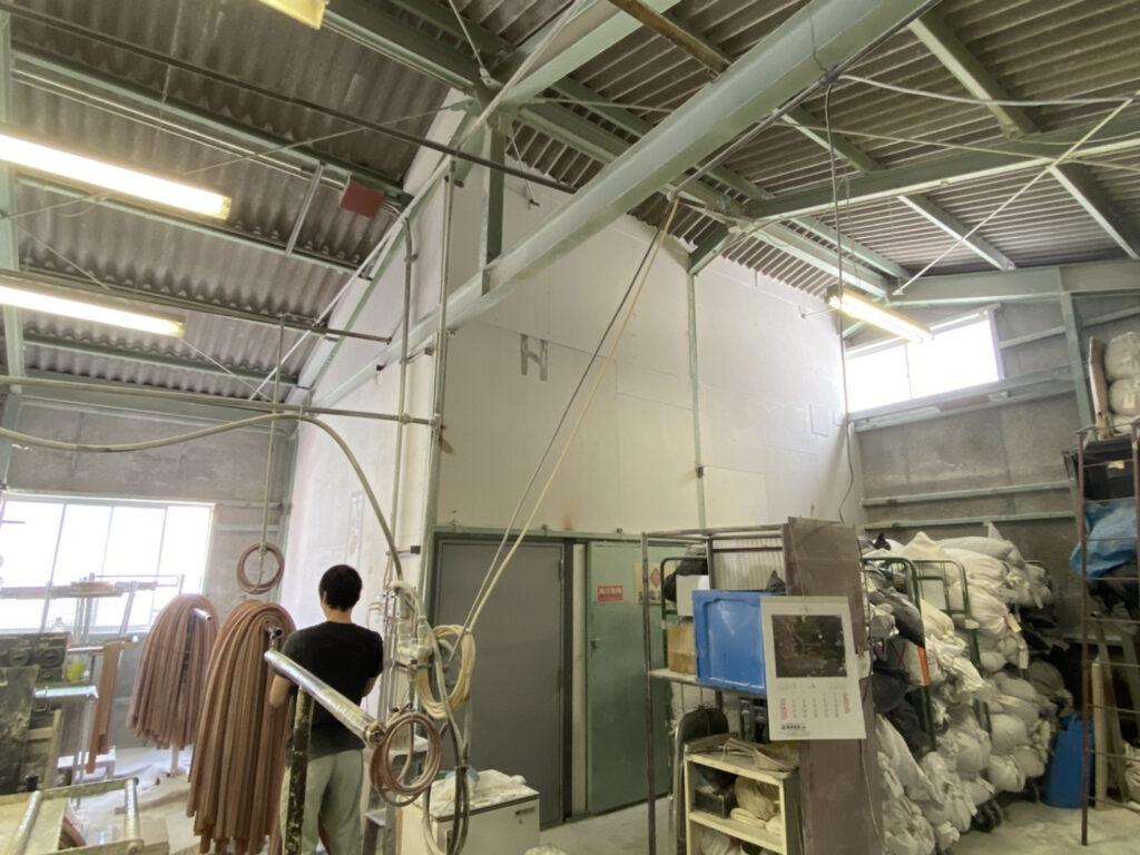 東灘区 工場電気室防火壁及び防火扉設置