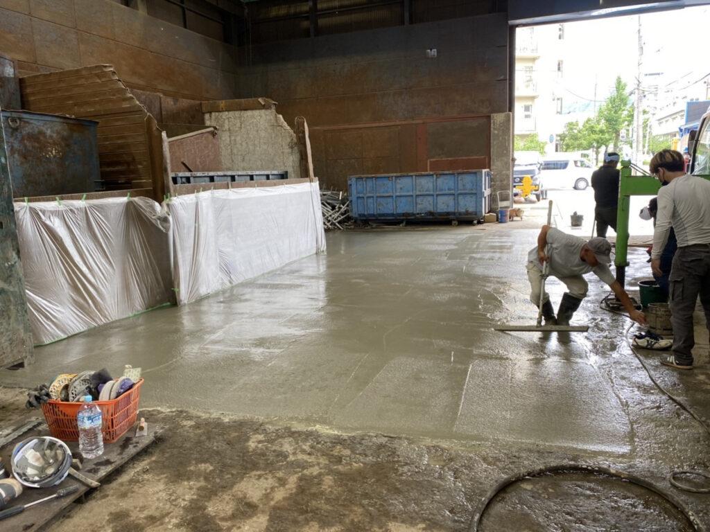 東灘区 工場土間コンクリート補修工事