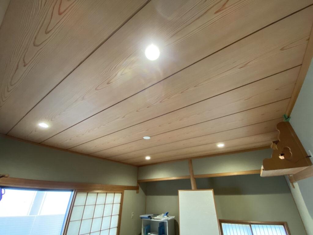 灘区 和室天井ダウンライト工事
