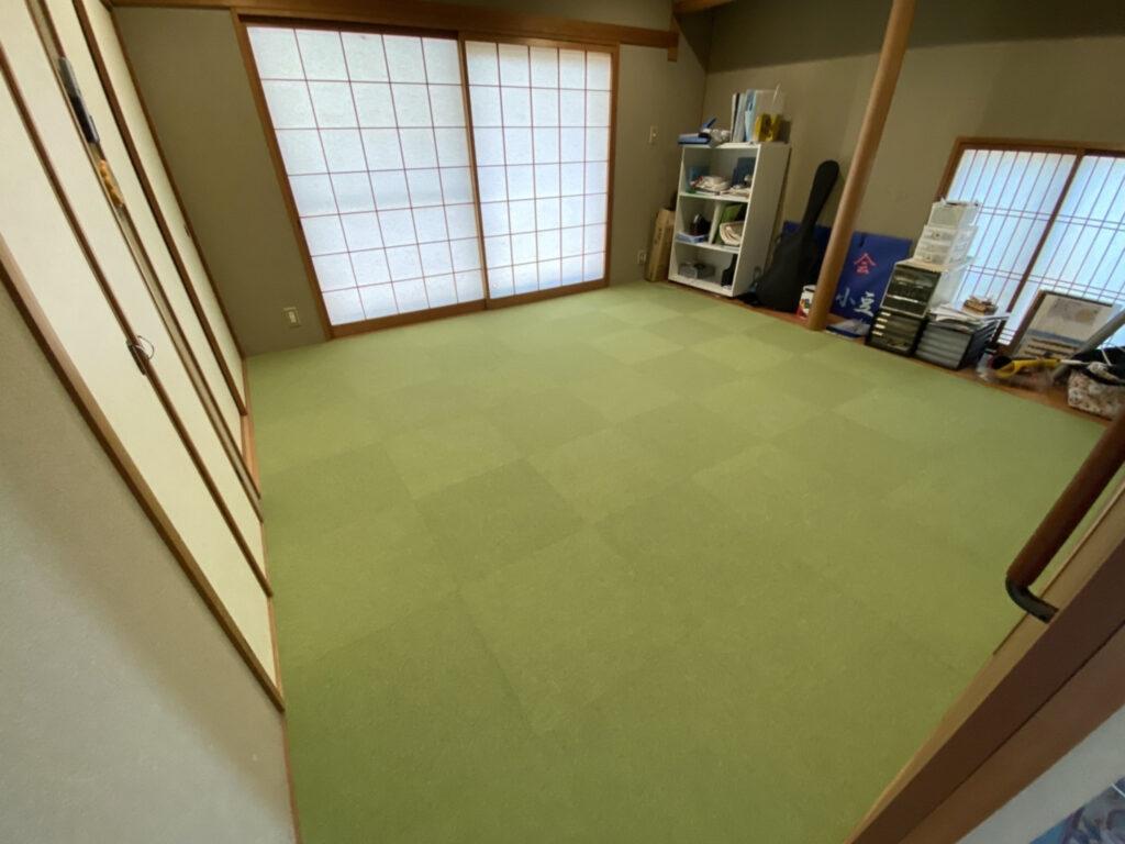 灘区 和室床模様替え タイルカーペット工事